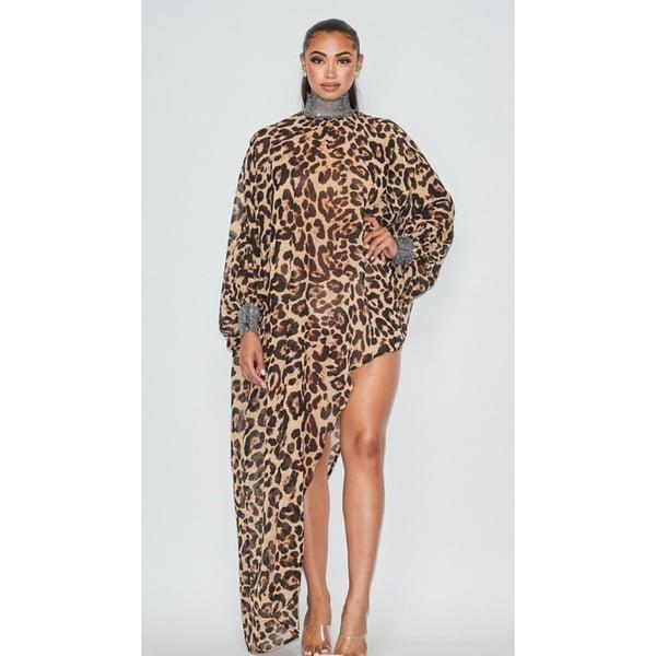 Image of Leopard Festival Dress