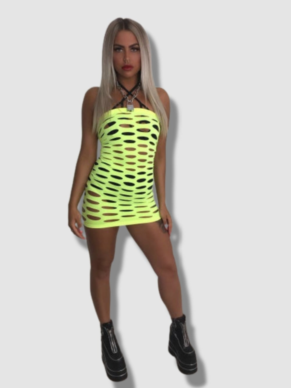 Atomic Blonde neon yellow lime dress WAS 28.00 NOW 10.00!