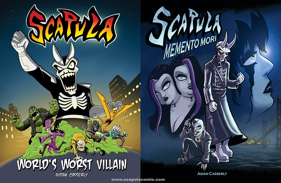 Image of SCAPULA BOOK PACK-WORLD'S WORST VILLAIN & MEMENTO MORI