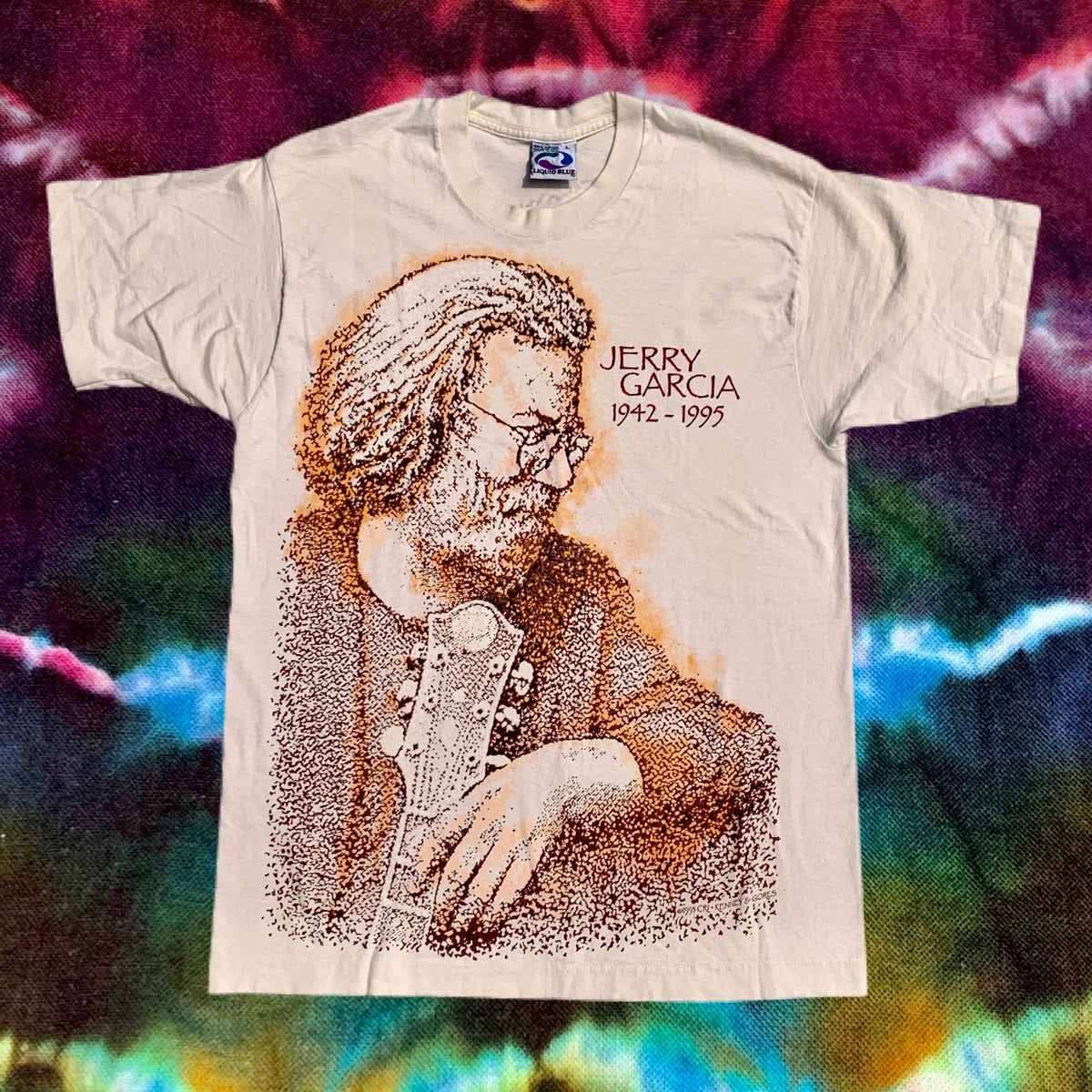 Original Vintage Jerry Garcia 1942-1995 Tee!! Large