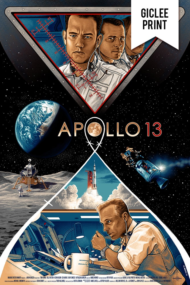 Image of  APOLLO 13 - GICLÉE - LIMITED EDITION PRINT - 24x36