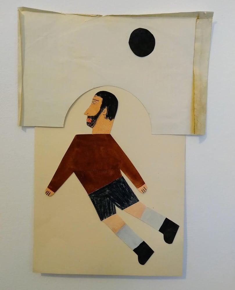 Image of Footballer - goal