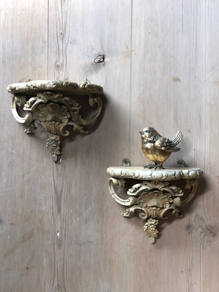 Image of Old pair of ornate wall sconces