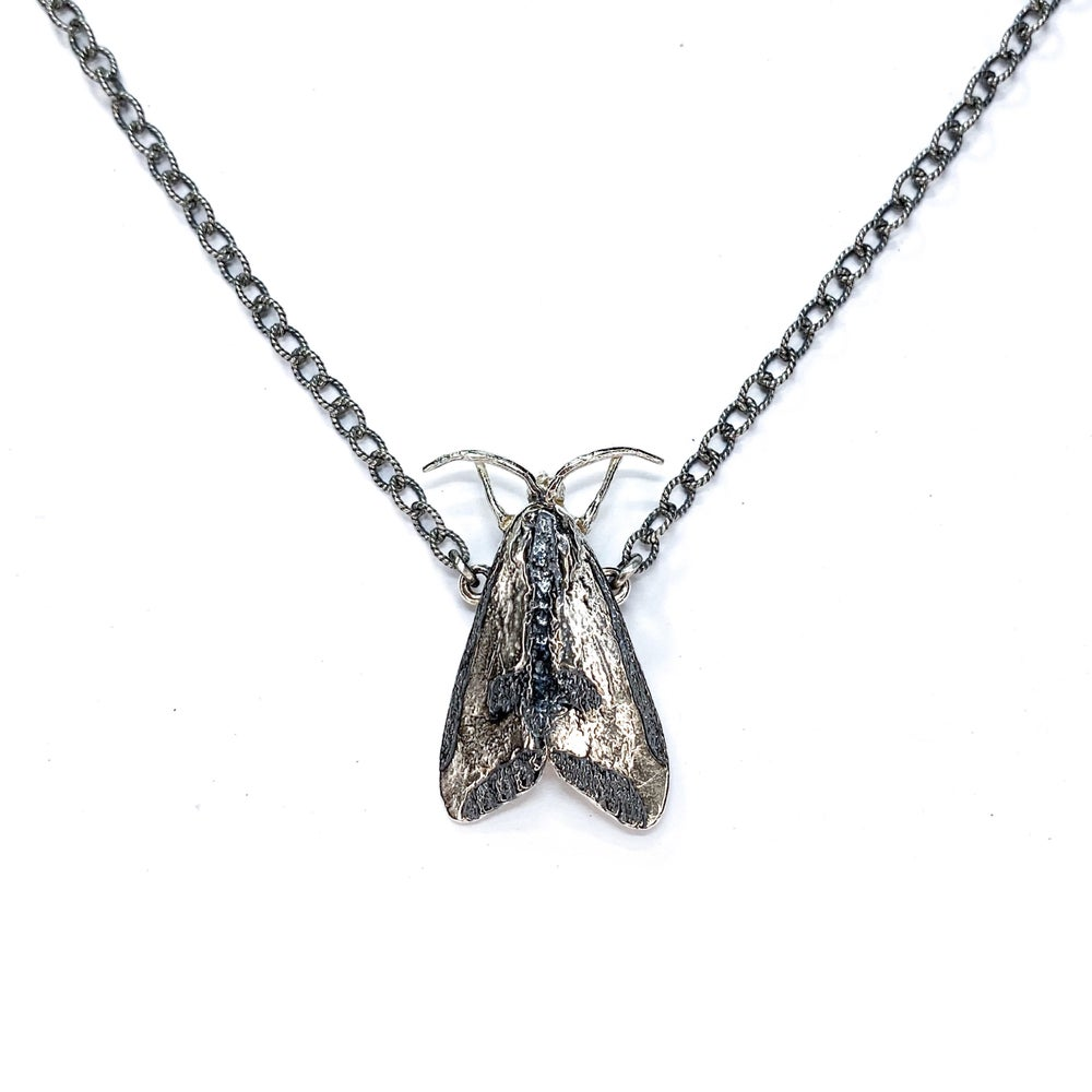 Image of Clymene Moth necklace in sterling silver