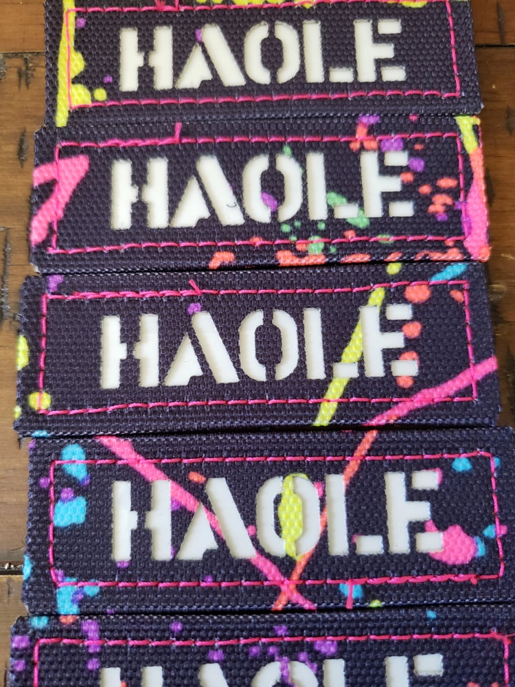 Image of Splatter Paint HAOLE laser cut
