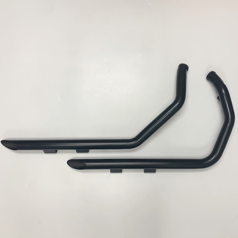 Image of Exhaust Drag Pipes (Black or Chrome) fits 2004-2013 HD XL / Sportster