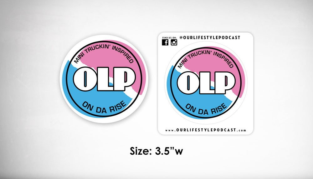 Image of OLP 3.0 Circle Logo Sticker