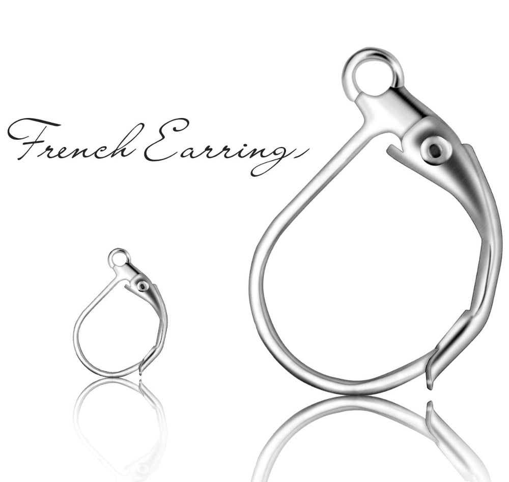 Upgrade: Silver-Plated Closed Clasp Earring Finishing (per pair)