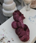 Paint + Rinse series - hand painted/dyed yarn - Purple People Eater