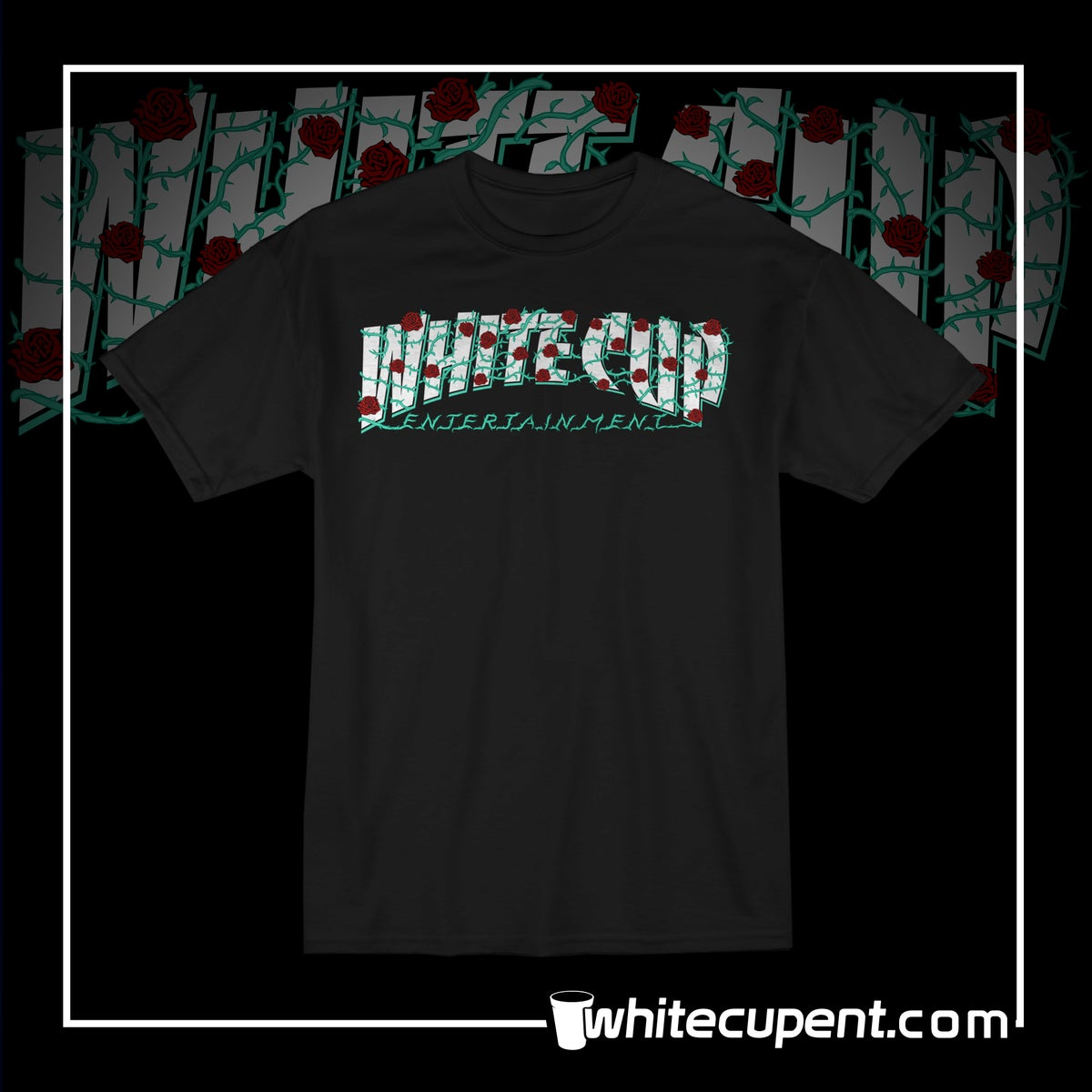 White Cup Thrasher Roses