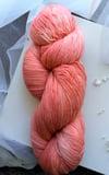 Paint + Rinse series - hand painted/dyed yarn - Peach Lantern
