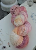Paint + Rinse series - hand painted/dyed yarn - Creamsicle