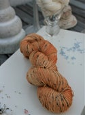 Paint + Rinse series - hand painted/dyed yarn - Spicy Sunshine