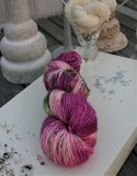 Paint + Rinse series - hand painted/dyed yarn - Day Lilies