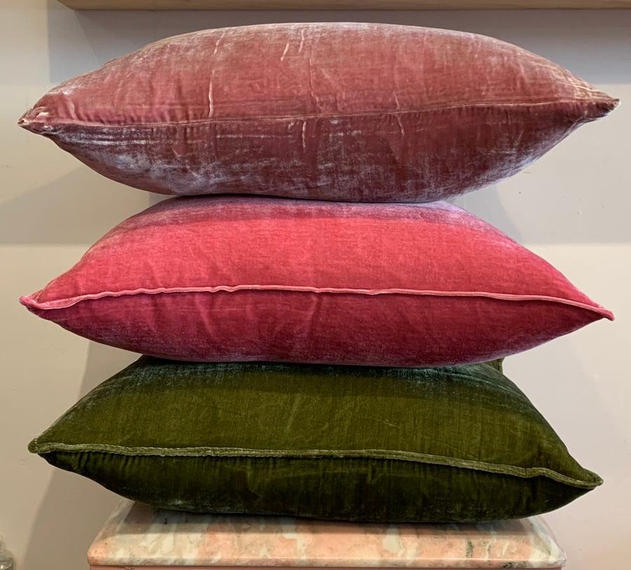 Image of Velvet cushions