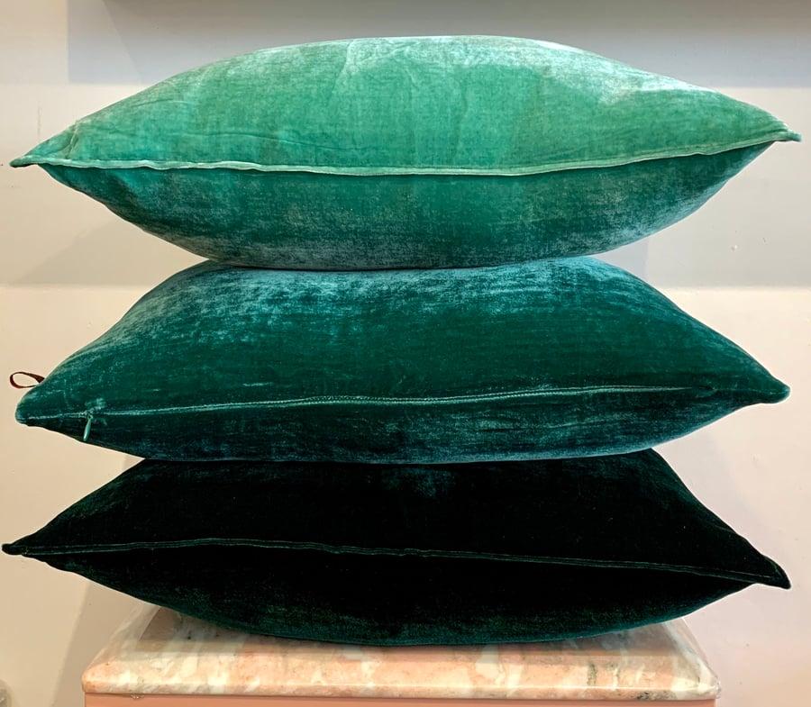 Image of Velvet cushion