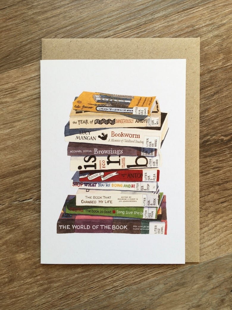 Image of The Book is Dead (Long Live the Book) Greeting Card
