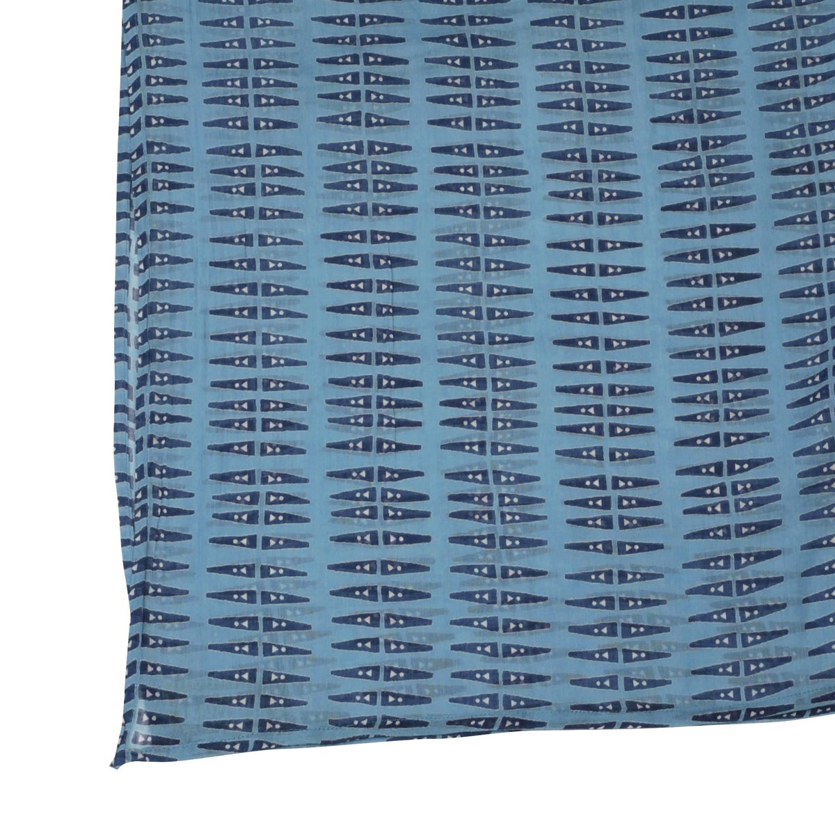 Image of Anabel Blue Block Printed Scarf