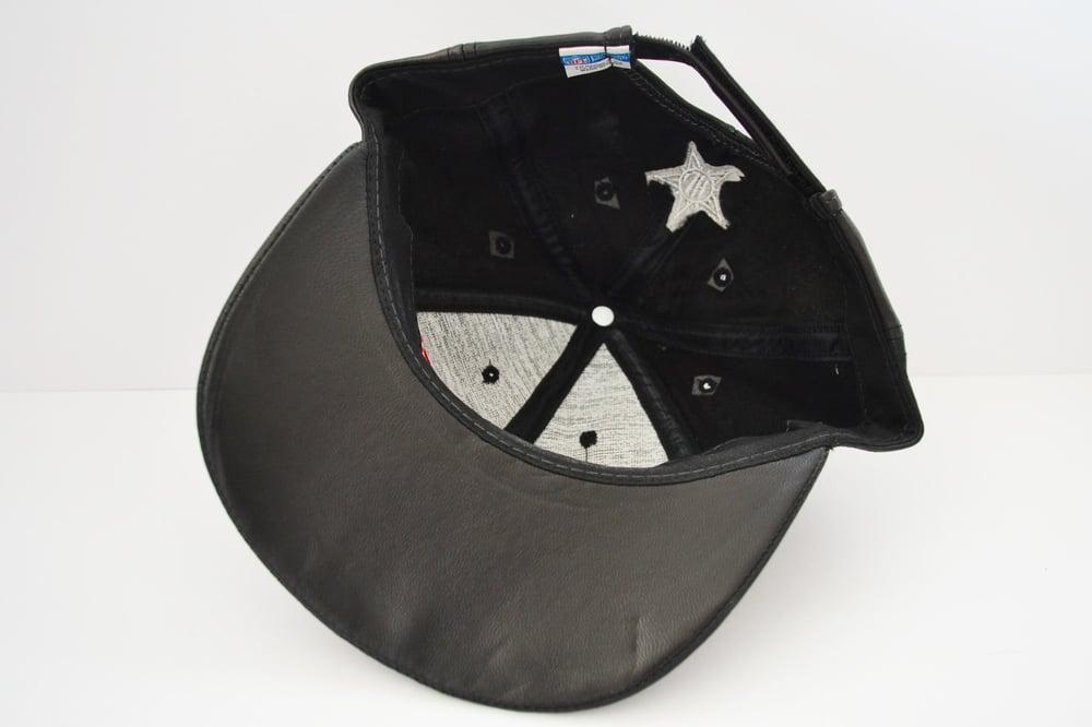 Image of Vintage 1990's New York Giants Jeff Hamilton Leather Strapback Hat