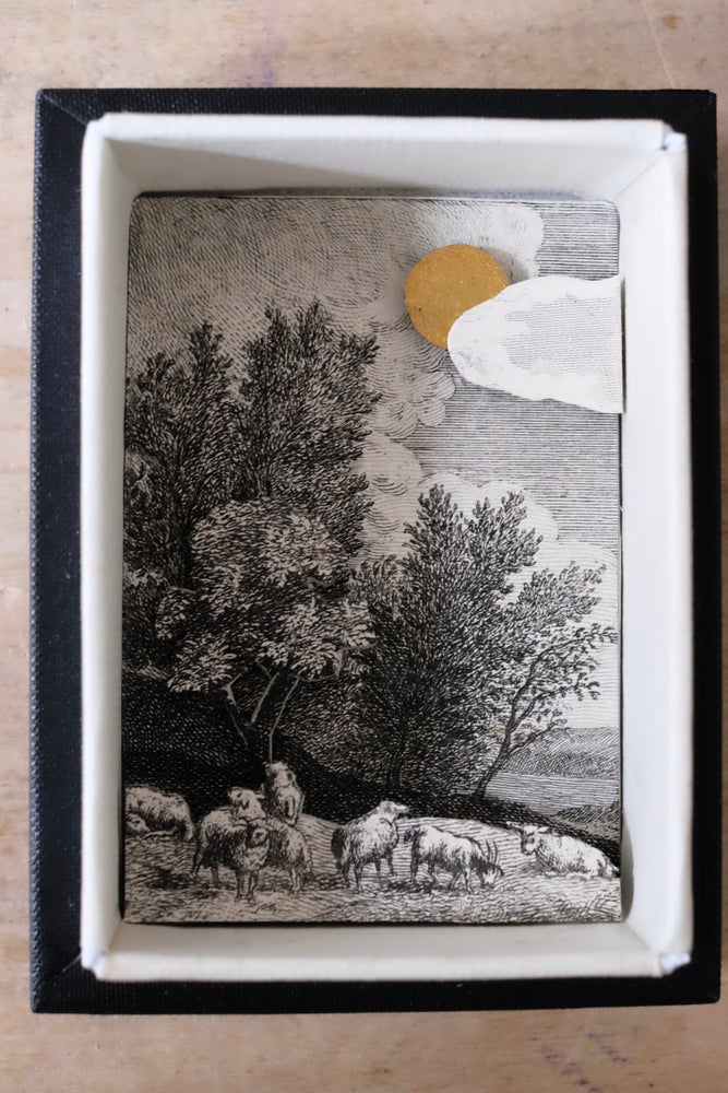Image of Diorama, scène en relief, dans sa boite vitrée (petit modèle) #4
