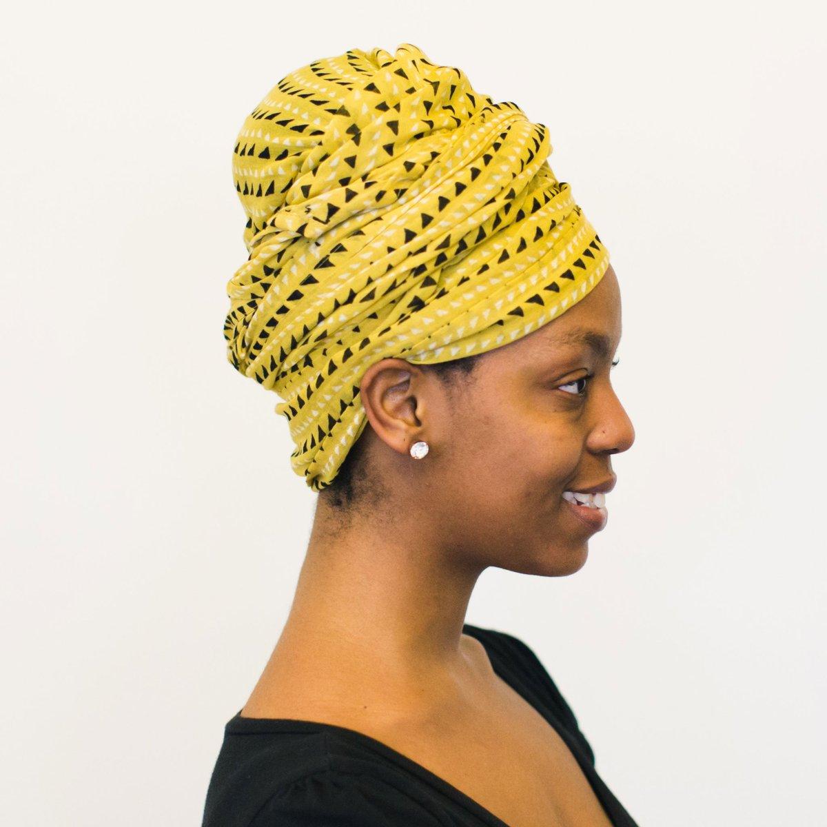 Image of Trinidad Mustard Block Printed Scarf
