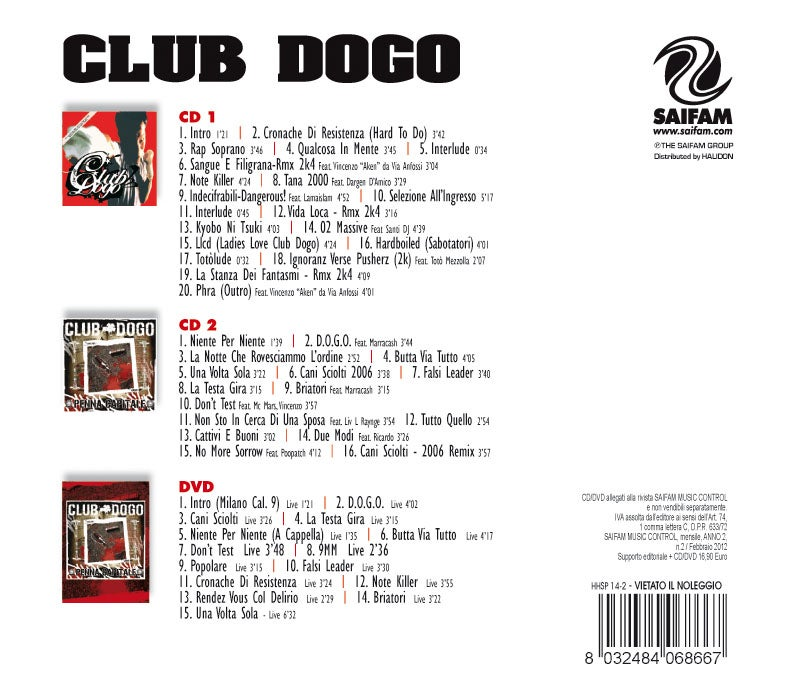 Image of HHSP14-2 // CLUB DOGO - SPECIAL CLUB DOGO (COFANETTO 2CD + DVD)