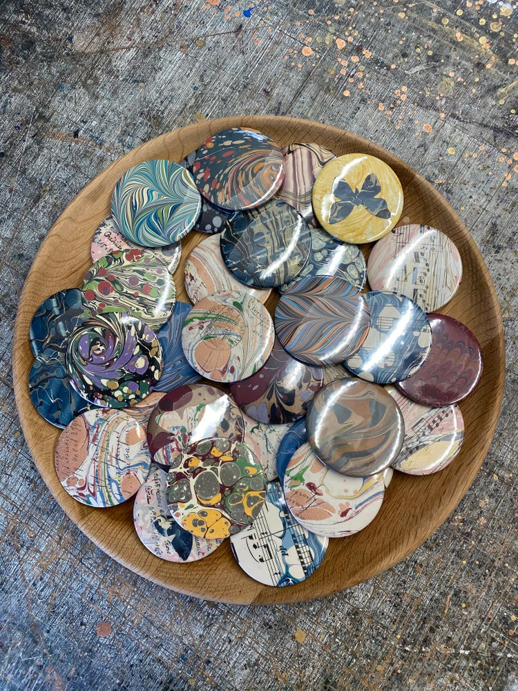 Image of Hand Marbled Mirrors - Bulk Listings // 58mm pocket mirror