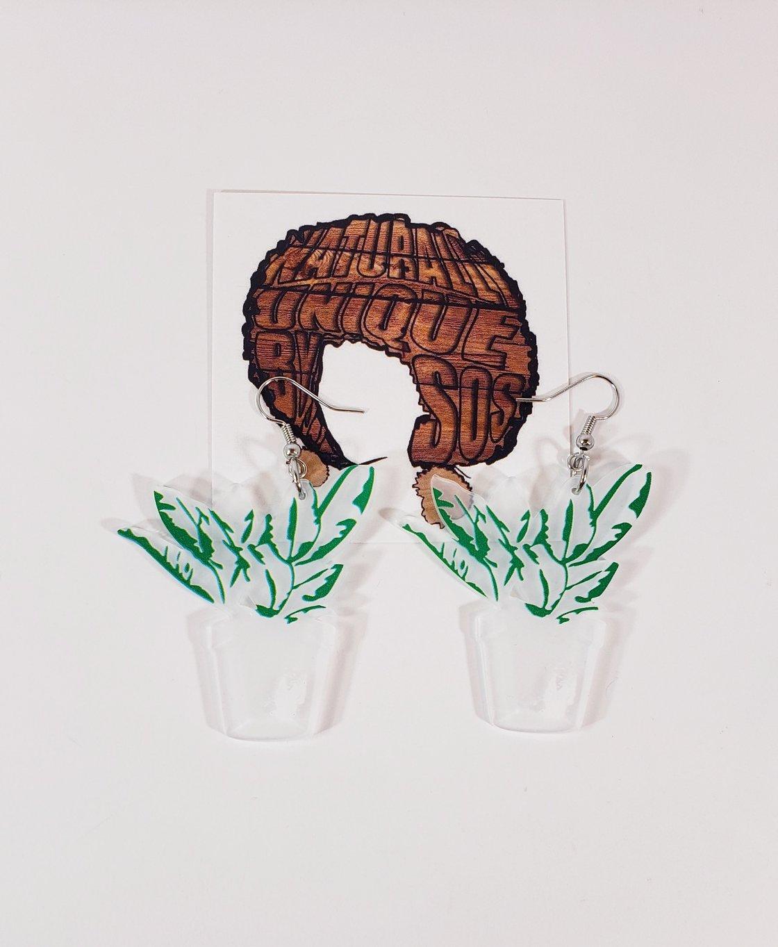 Image of Plant Earrings