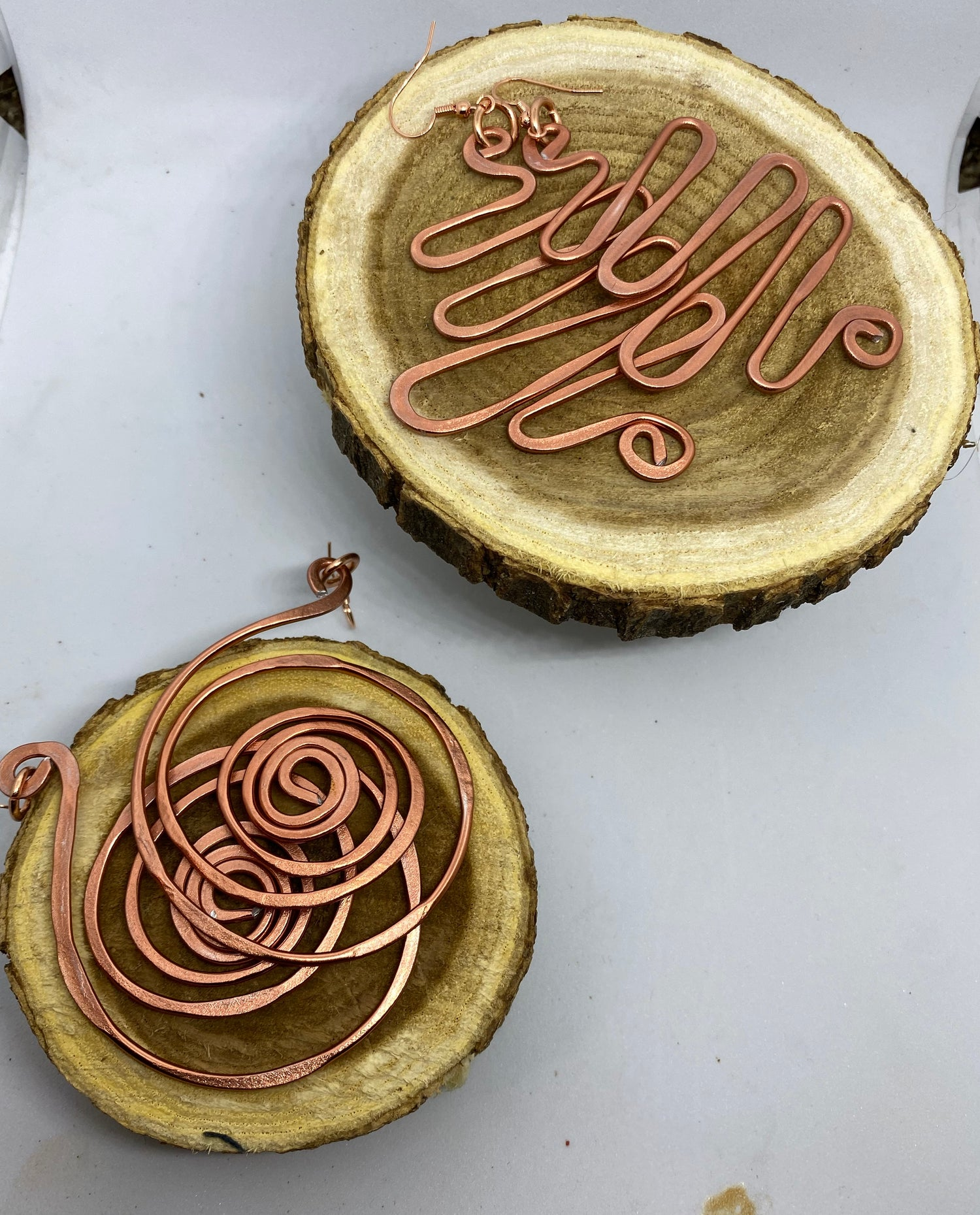 Image of Copper Fluidity Earrings