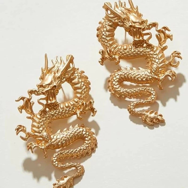 Image of Golden dragon earrings