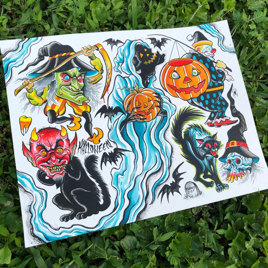 Image of Halloween 2020 flash sheet