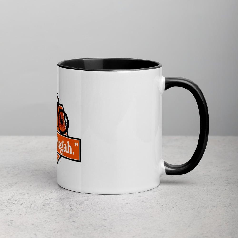 """Pisgah, Pisgah"" Mug with Color Inside"