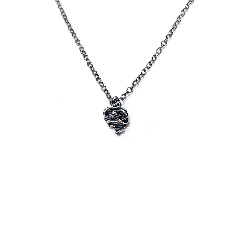Image of Baby Snake necklace in silver or gold