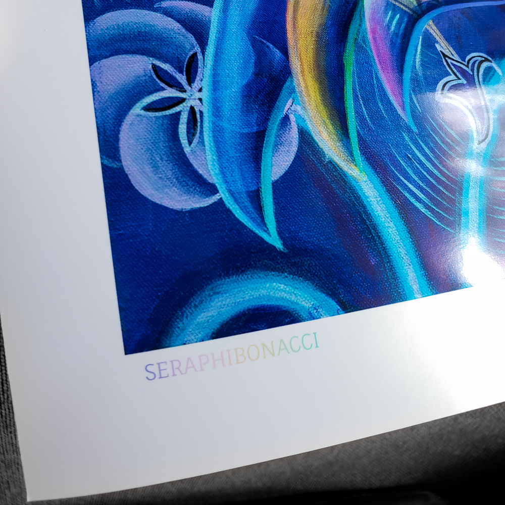 Image of 'Seraphibonacci' limited edition metallic poster