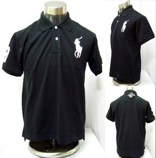 Designeroutlet — Ralph Lauren Black Polo Shirt Big Pony ** Free UK ...