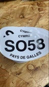 Image of CYMRU SO58 PAYS DE GALLES   CAR STICKER