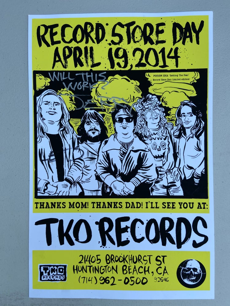 Image of POISON IDEA-Original Signed Record Store Day Poster