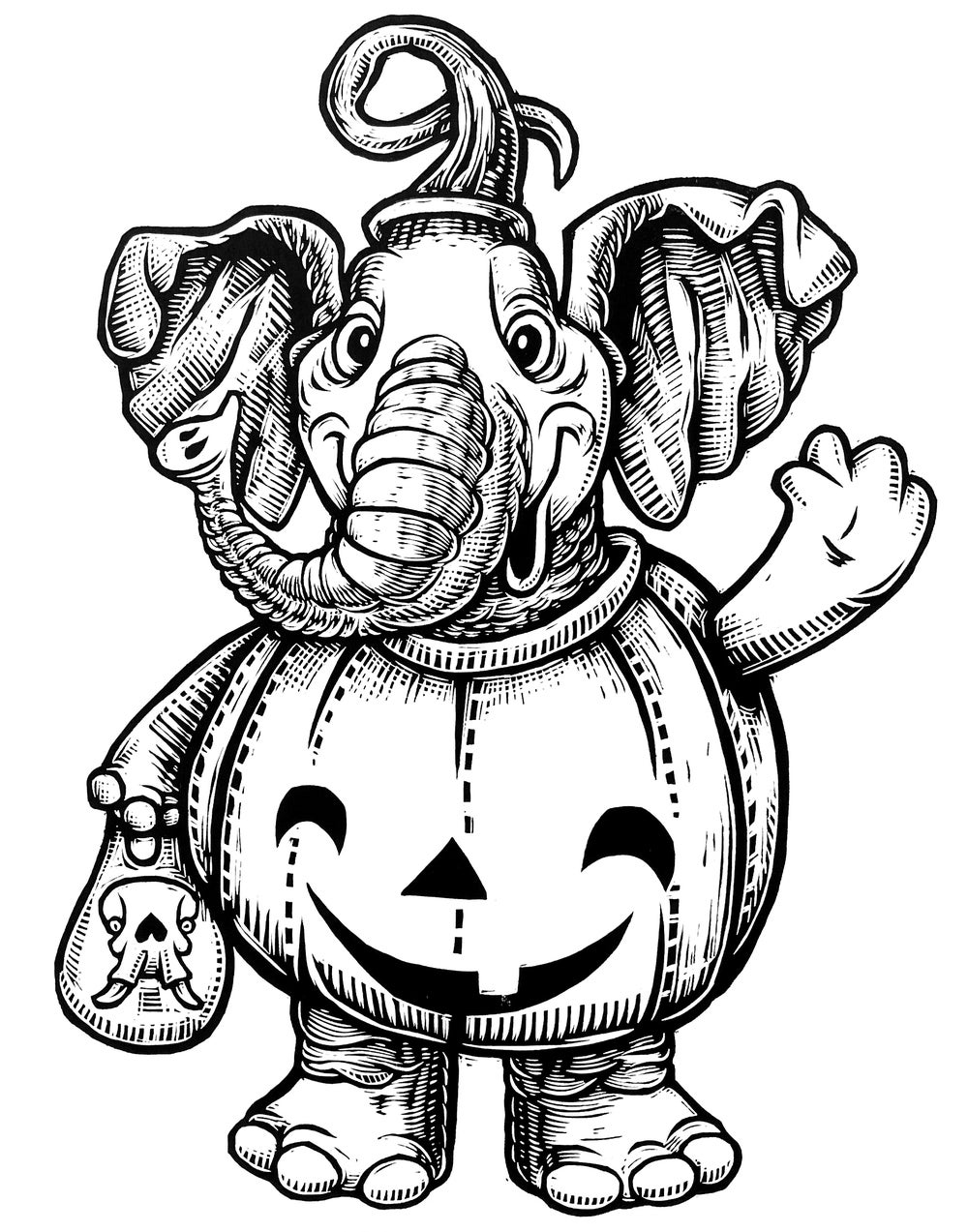 Trick or Treat Elephant (B1) **FREE SHIPPING**