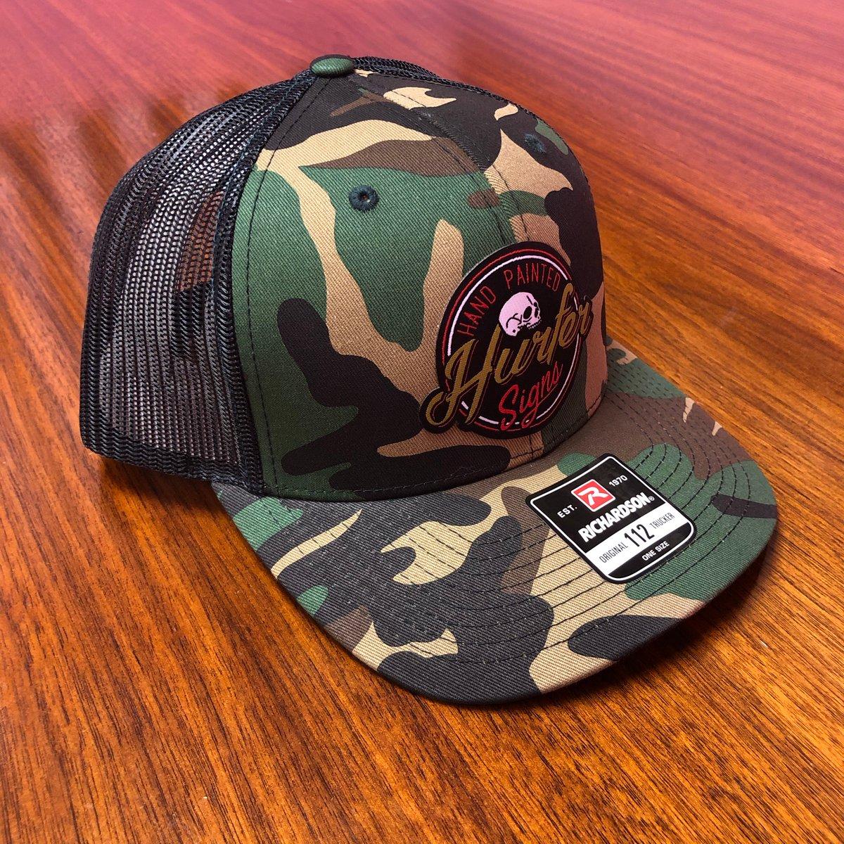 Image of Hurfer Logo- Camo Trucker Hat