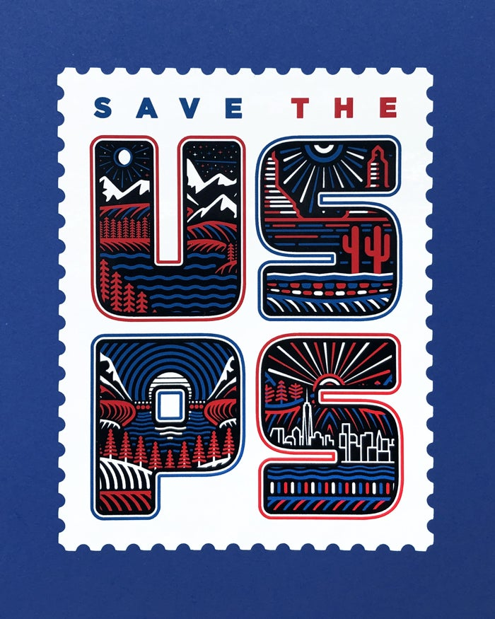 Image of Save the USPS - Sticker