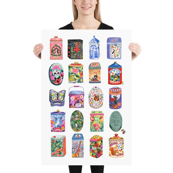 Image of Archival art print - Tin can collection