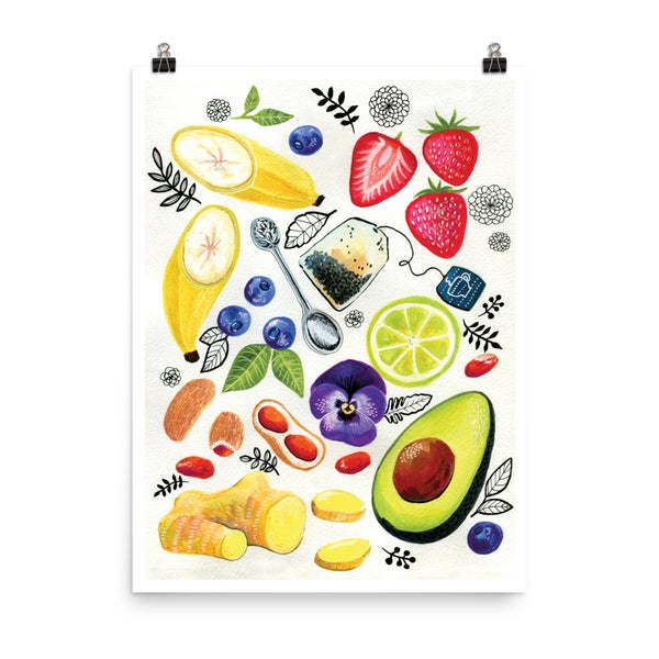 Image of Archival art print - Delicious food