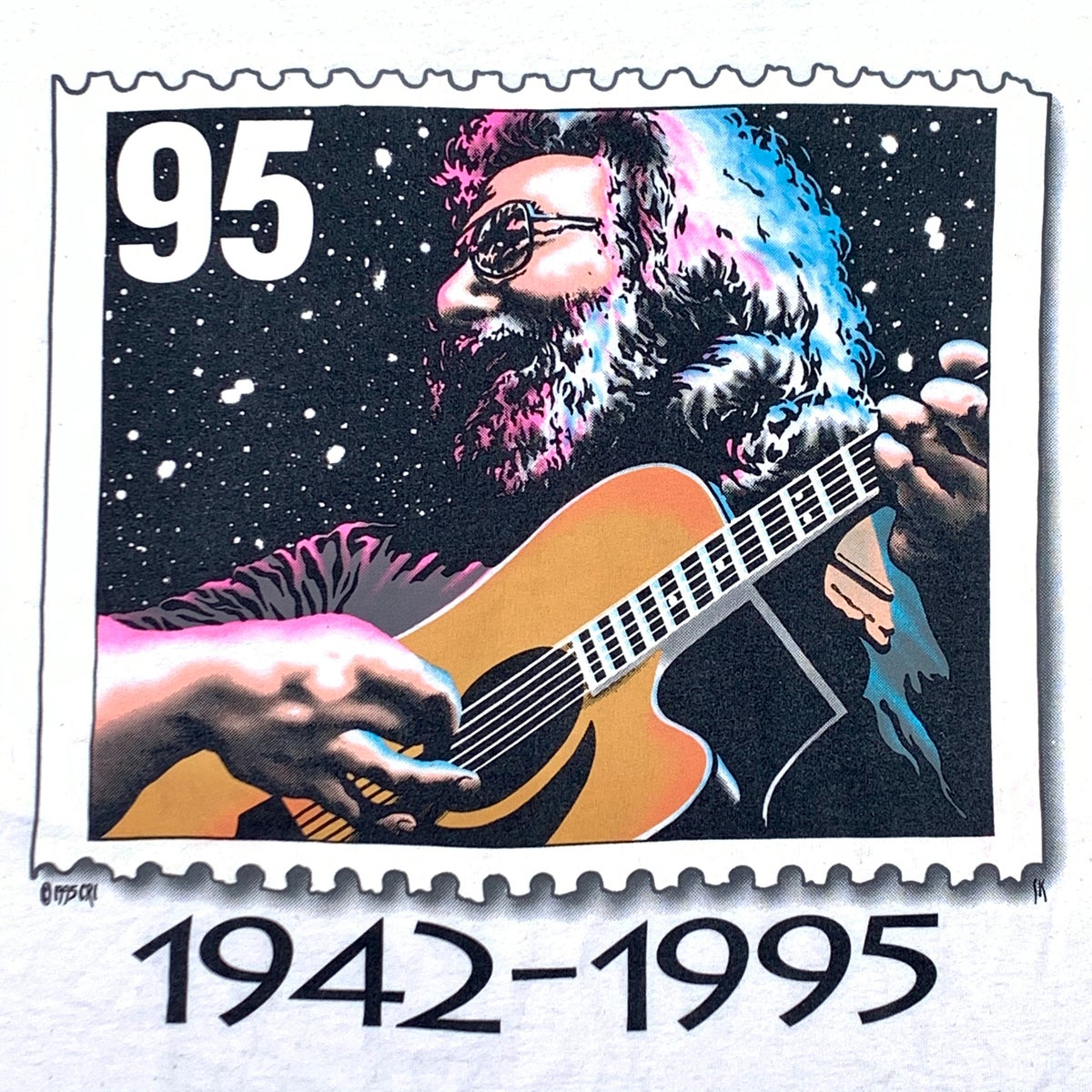 Original Vintage Jerry Garcia 1942-1995 Stamp Tee!! XL!
