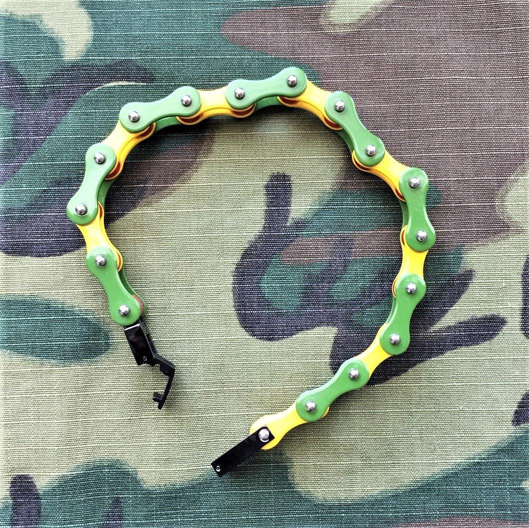 "Image of Vietnam Veteran Bike Chain Bracelet  9"""