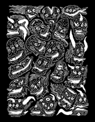 "Image of Will Carsola ""21 Creeps"" Screen Print 11 x 14"" Black / Silver"