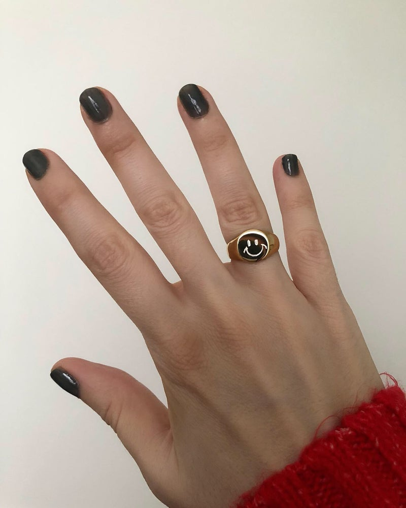 Image of SMALL ROUND HAND ENGRAVED SIGNET RING