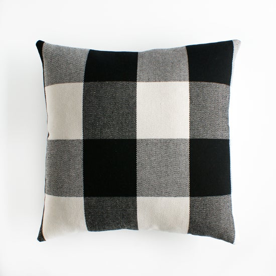 Image of buffalo check cushion cover