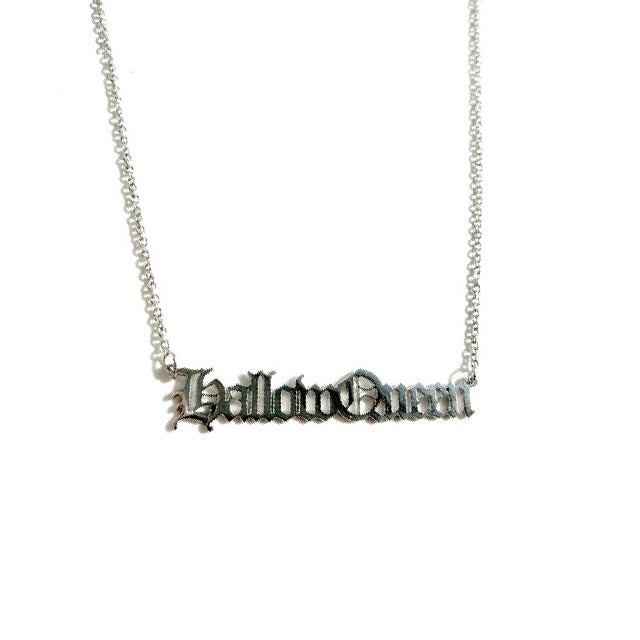 Image of Hallow Queen Stainless Steel Script Necklace