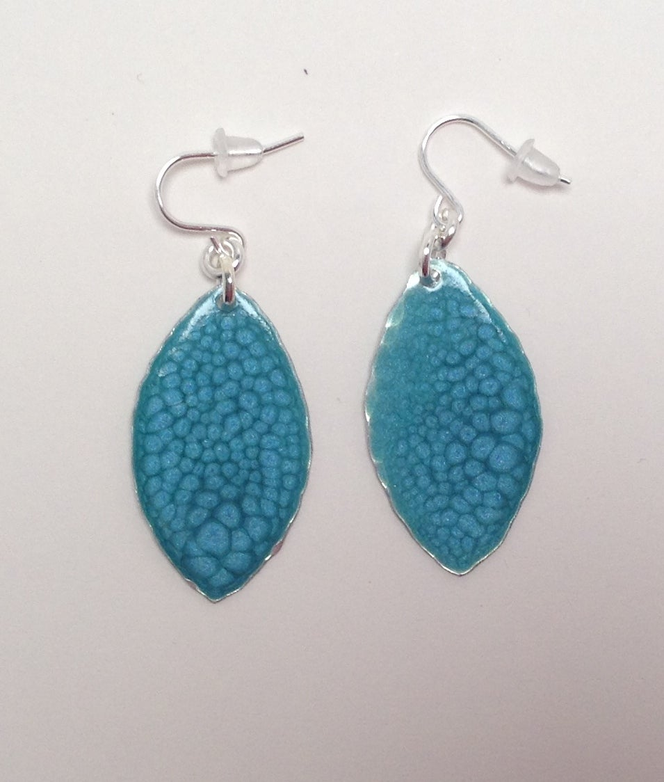 Image of Turquoise aluminium earrings