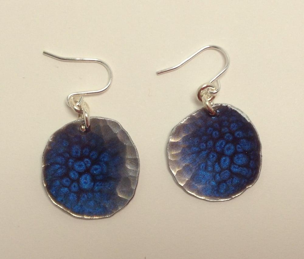 Image of Royal blue recycled aluminium earrings